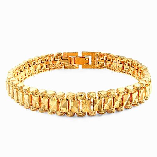 Titanium Stainless Steel Charm Bracelet - Gold