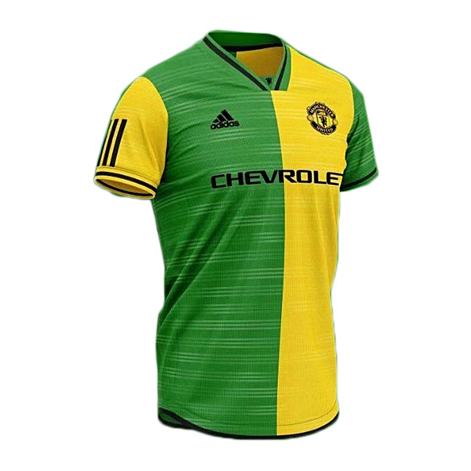 check out 3c925 484c6 Manchester United Away Jersey 2019/2020 - Yellow/Green