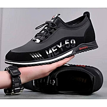 76b1f7bae142 Low-Top Lace Up Sneakers - Black Red