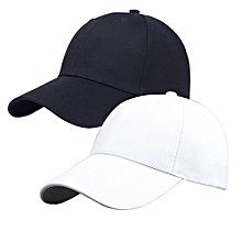 Bundle of Plain Adjustable Cap - White Black 3058d2612fd9