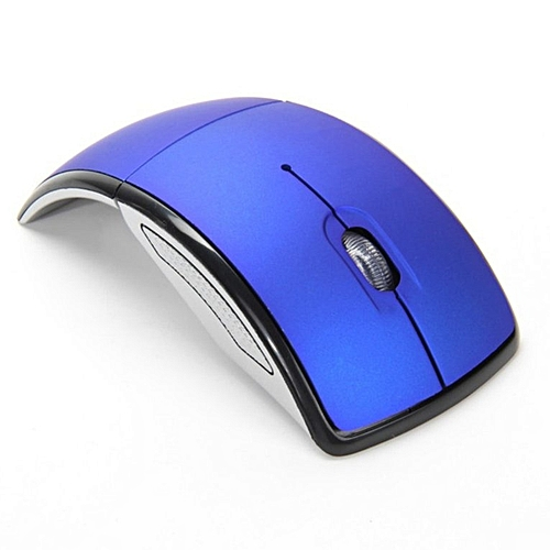 dd379c3138f Optical 2.4G Foldable Wireless Mouse USB Folding Receiver Ergonomic Mice  blue