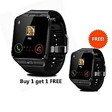 bf8b4b3a52f215 DZ09 Single SIM Smart Watch Phone - Black - Buy 1 Get 1 Free
