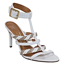 f09a32d7902 Ankle Strap Heel Sandals - White