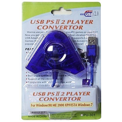 Buy Sony PS2 to PC USB Dual Controller Adapter Converter