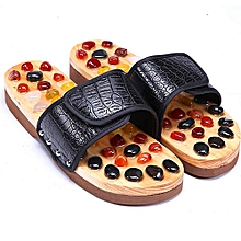 68daecb529e1f1 Jade Acupuncture Slippers - Black