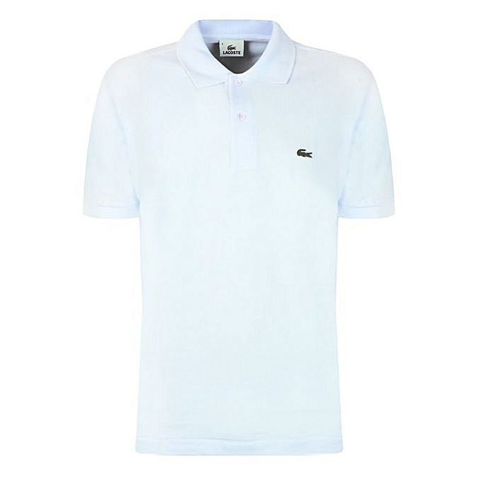 buy polo by mide short sleeve lacoste shirt white online. Black Bedroom Furniture Sets. Home Design Ideas