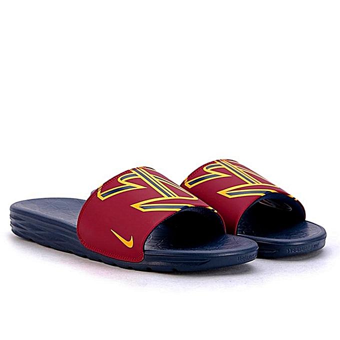 87241b95b827 Nike Flip Flops Slides - Navy Wine Red