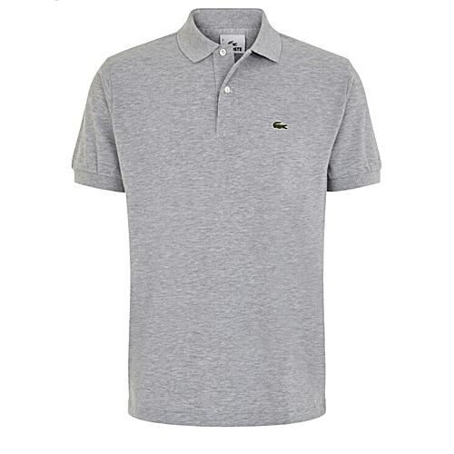 23bea82d8 Lacoste Short Sleeve Polo Shirt - Grey