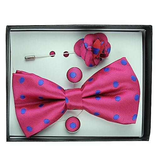 Polka Dot Bowtie Set - Pink