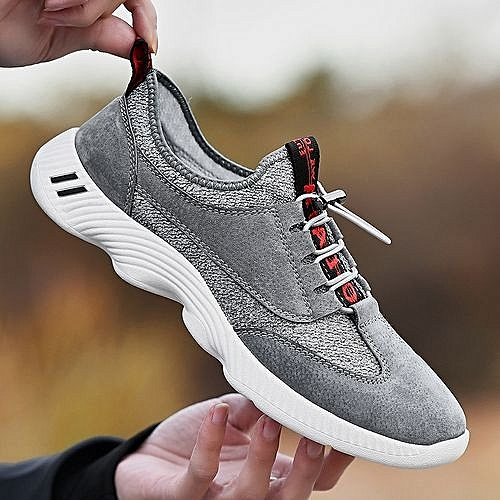 1940661fe Mens Running Shoes Trail Fashion Sneakers Tennis Sports Casual Walking Athletic  Fitness Indoor Outdoor Shoes Grey