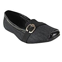 e43a63fafbb Buckle Detail Ballerina Shoes - Black