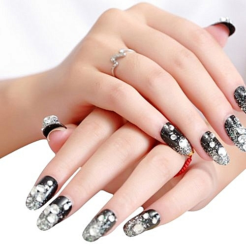Bride Manicure Series Diamond 24 Tablets Nail Paste