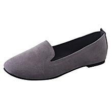 00e398d31 Blicool Shoes Women Ladies Slip On Flat Round Toe Shallow Shoes Sandals  Casual Shoes Gray