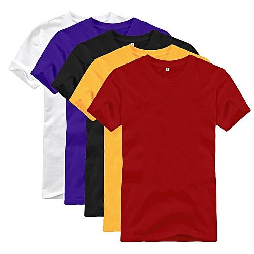 b9691c55b72b Buy Key Round Neck Short Sleeve T-Shirt - 5 Pack - Multicolour ...