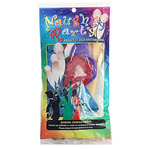Bachelorette Colored Penis Party Ballons