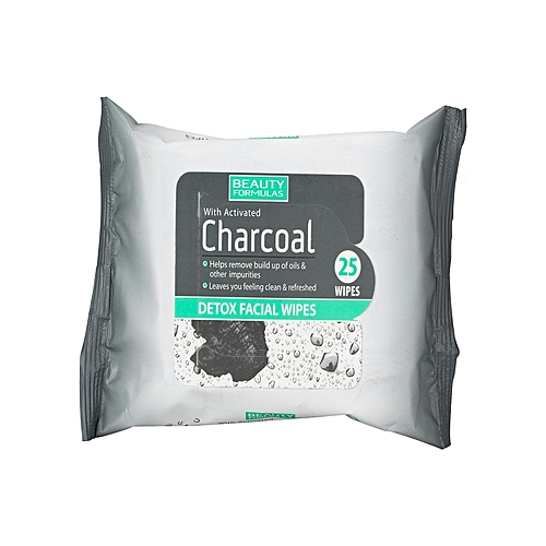 Charcoal Detox Facial Wipes - 25 Pieces