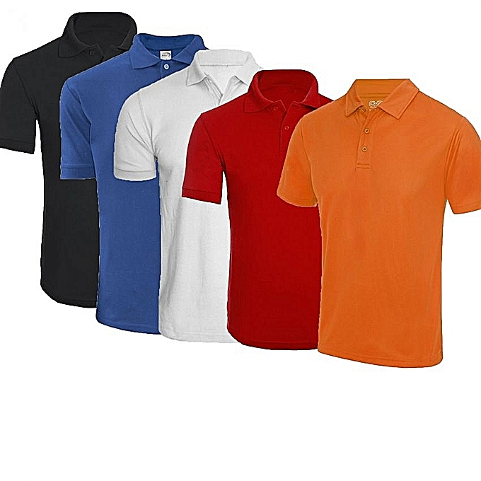 993f5cfe92bd Buy White Label 5 Pack Round Neck Short Sleeve Polo Shirt ...