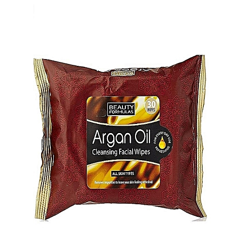 Argan Oil Cleansing Facial Wet Wipes - 30 wipes