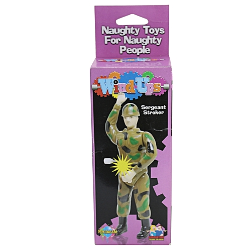Bachelorette Party Military Wind Up Toy Gag Sergeant Stroker