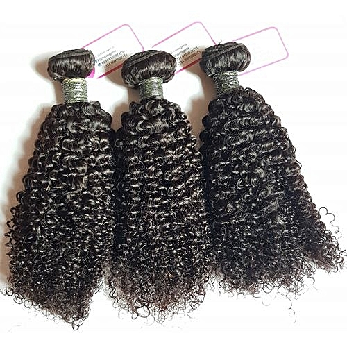 "Pure Virgin Carribean Curls Human Hair - 3 Piece - 16"" - Natural Black"