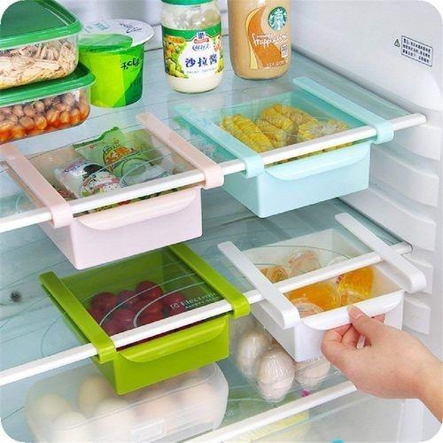 4pcs Kitchen Refrigerator Storage Box Food Container Fresh Spacer Layer Storage Rack Pull-out Drawer Fresh Sort Organizer