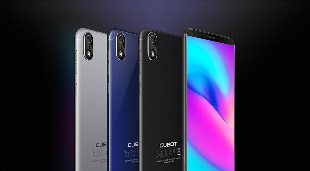 Cubot J3 3G Smartphone 5.0 inch Android GO MT6580 Quad Core 1.3GHz 1GB RAM 16GB ROM 8.0MP Rear Camera 2000mAh Detachable Battery Fingerprint Scanner