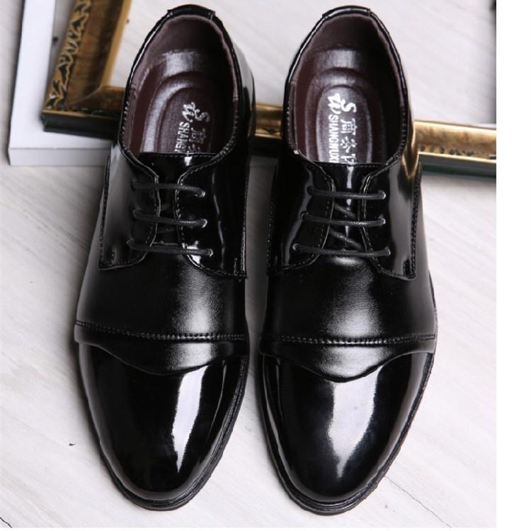 FASHION Stylish Youth Men Lace Up Wedding Shoes