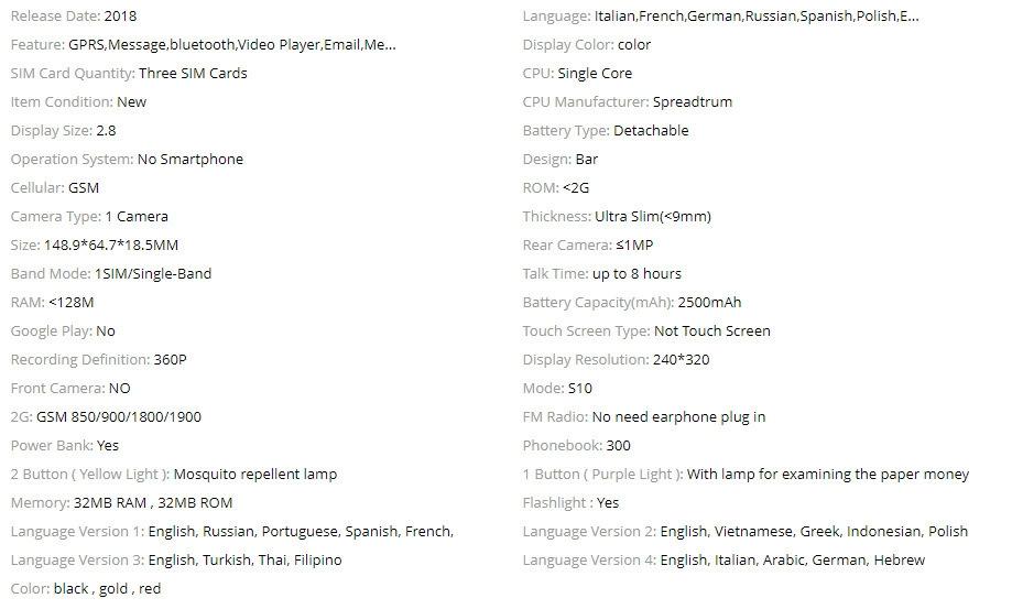 Product specifications - GE779EL02OJ14NAFAMZ