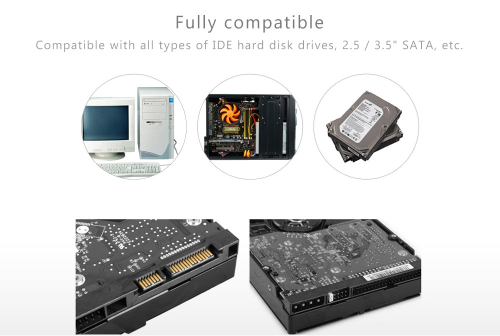 875 All in One Docking Station Card Reader eSATA Dual IDE SATA Hard Disk Cloning Device