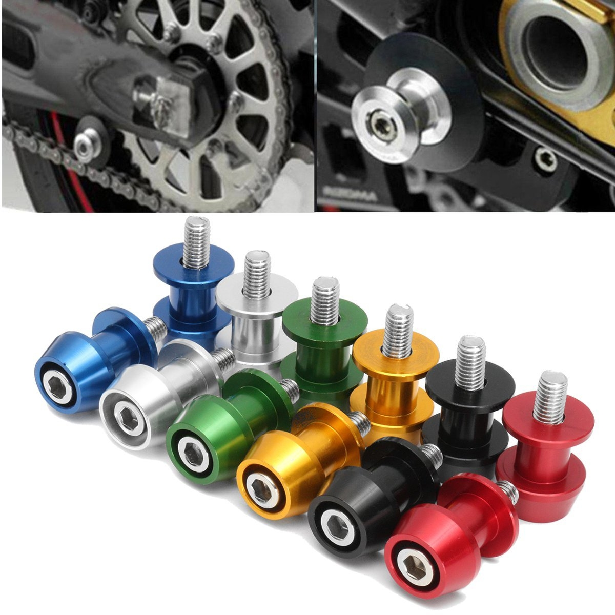 8mm Red Motorcycle Swingarm Swing Arm Spools Sliders Stand Bobbins for CBR1000RR
