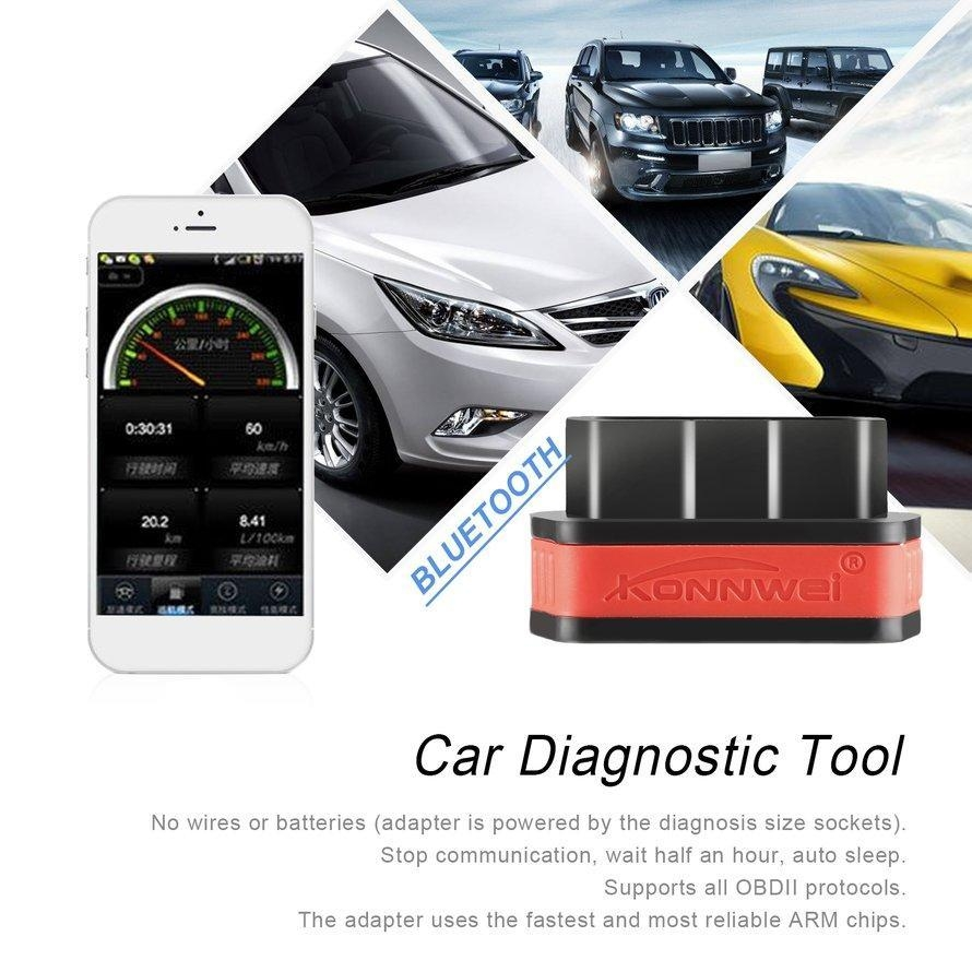 ELM327 KW901 Diagnostic Code Scanner Bluetooth 3.0 for Android for OBDII Cars