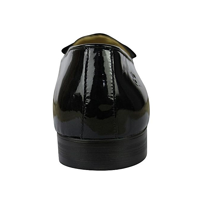Buy White Label Patent Leather Penny Loafers - Black ...