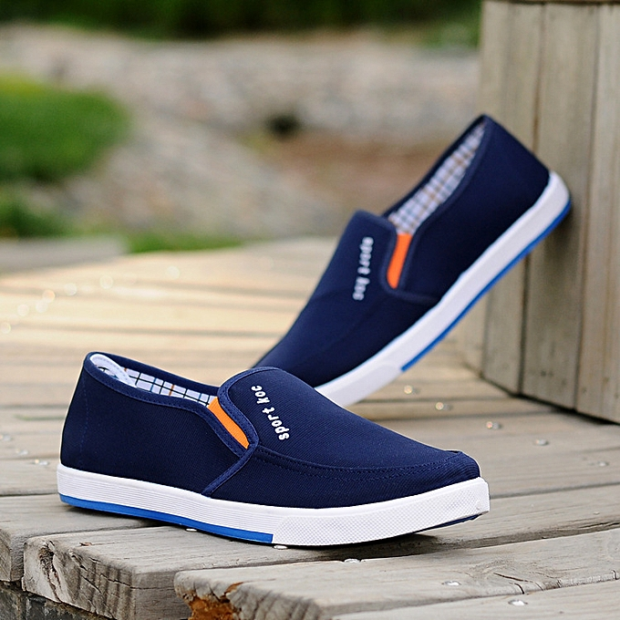 c80030de6ee ... Men s Canvas Shoes Casual Slip On Plimsolls Boat Loafers Skate Pumps  Sneakers ...