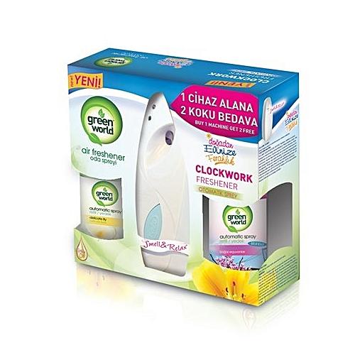 Green World Air Freshener Automatic Spray White Jumia Ghana