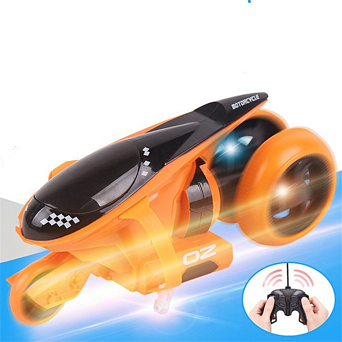 QF100 Rear Wheel Drive 360-Degree 2 4G Electric Drift RTR RC Car Motorcycle  With LED Flash Light-