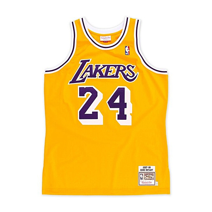 info for e1735 f2e93 Kobe Bryant Los Angeles Lakers Throwback Swingman Jersey - Yellow