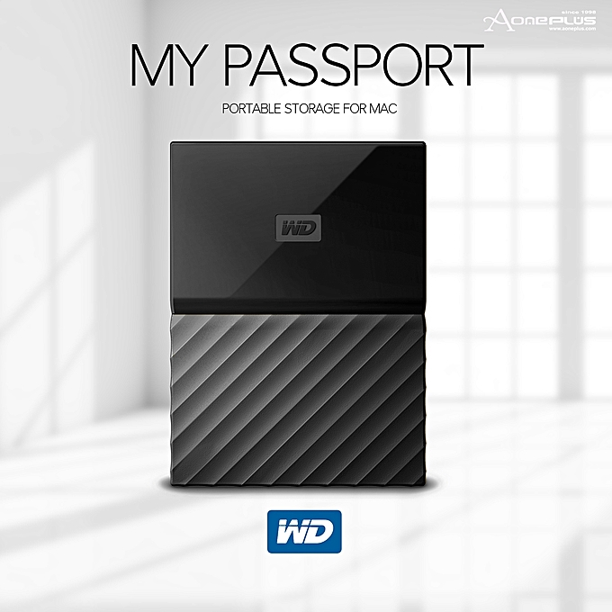 My Passport Portable Hard Drive - Mac Only - 2TB Black