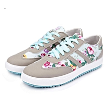 13b2b52e54c Floral Print Low Top Lace-up Sneakers - Grey Multicolor