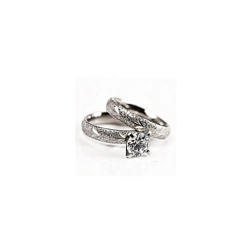 Wedding Ring Set - Silver