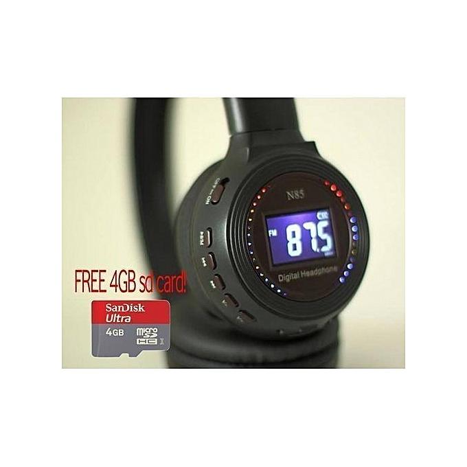 Buy White Label Wireless Headphone + Free Micro SD online ...
