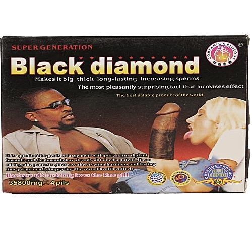 Buy Black Diamond Penis Enlargement Pills - 4 Pills Online -5096