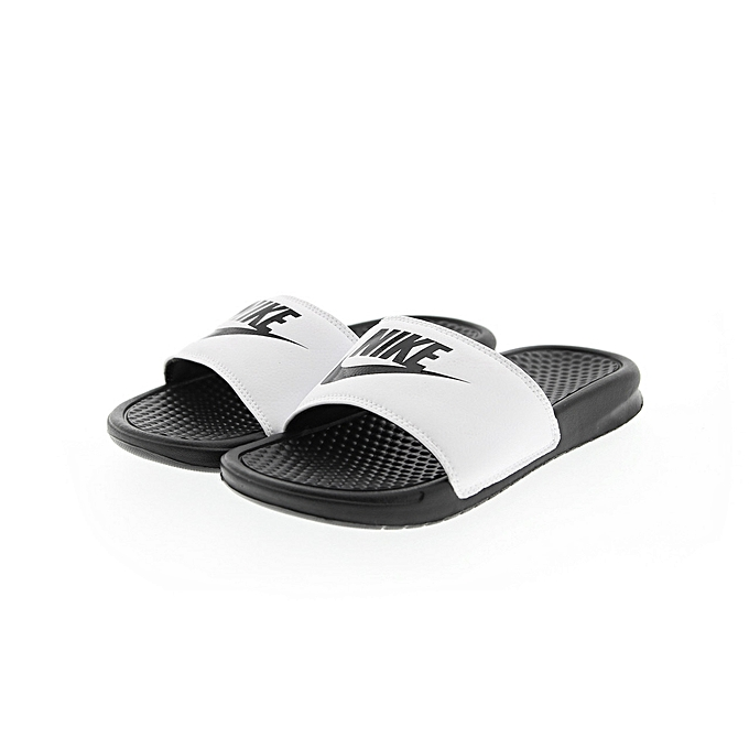 58a6ecd77abd Nike Benassi Jdi Flip Flops Slides - Black White