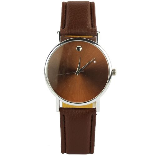 f410dc41715 Leather Analog Wrist Watch - Brown