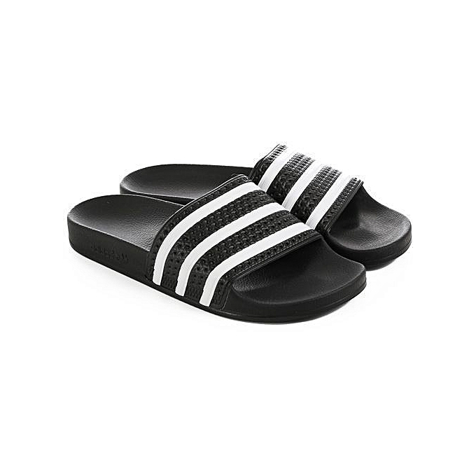 4ce083439 White Label Comfortable Slides - White Black