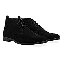 Suede Desert Ankle Boots - Black 4c07e1f47