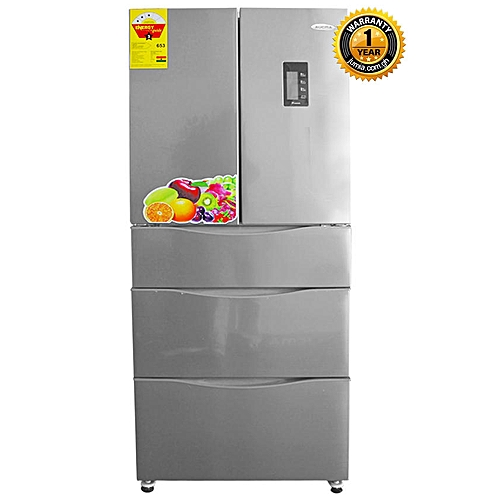 Buy Aucma Bcd 367wvh French Door Refrigerator 367 Litre Silver