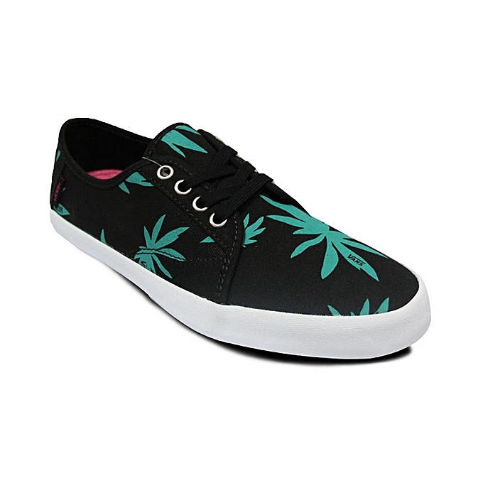 ca2986c472 Vans Leaf Print Lace-Up Plimsolls - Black Green