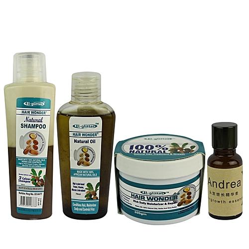 Hair Wonder Natural Hair Care Set + Andrea Hair Growth Essence - 20ml
