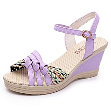 17ce678ce4ad7 Blicool Shoes Ladies Women Wedges Shoes Summer Sandals Platform Toe High-Heeled  Shoes Purple