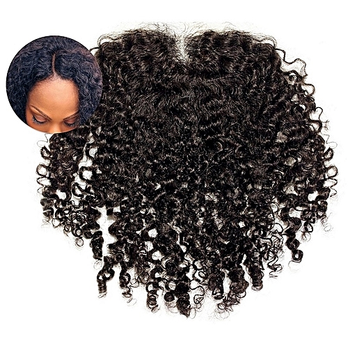 4x4 Kinky Lace Closure Indian Virgin Human Hair - 8'' - Brown